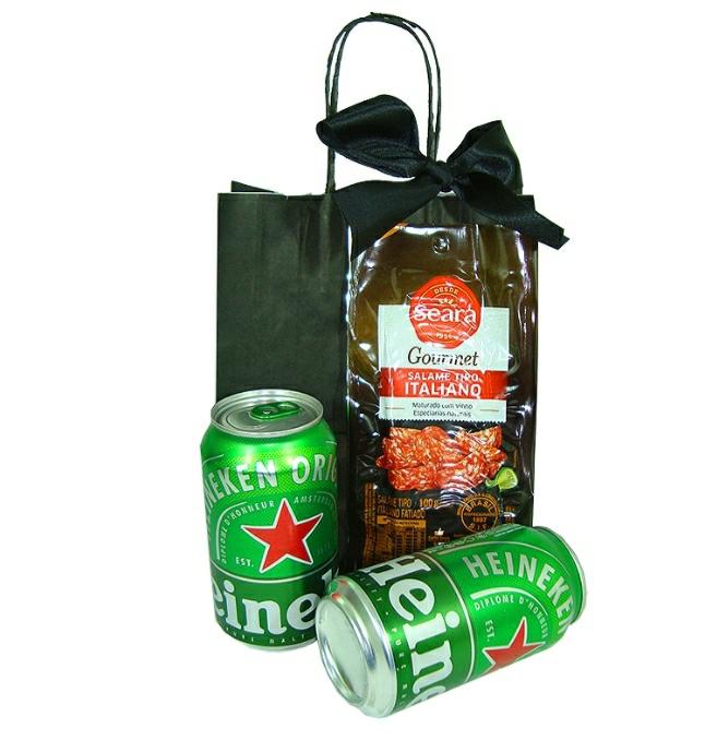 Heineken Latinha e Salame Gourmet