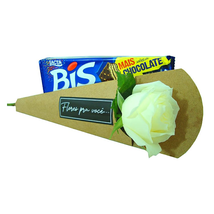 Rosa branca com Bis