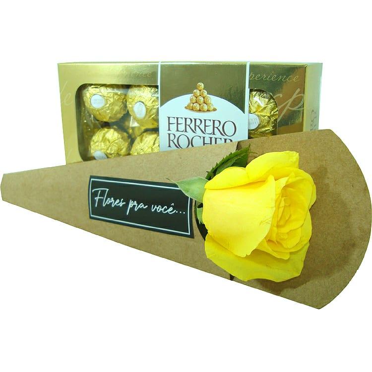 Rosa Amarela com Ferrero Rocher