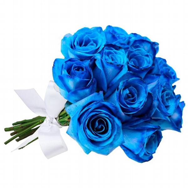 Buquê 12 Rosas Azul