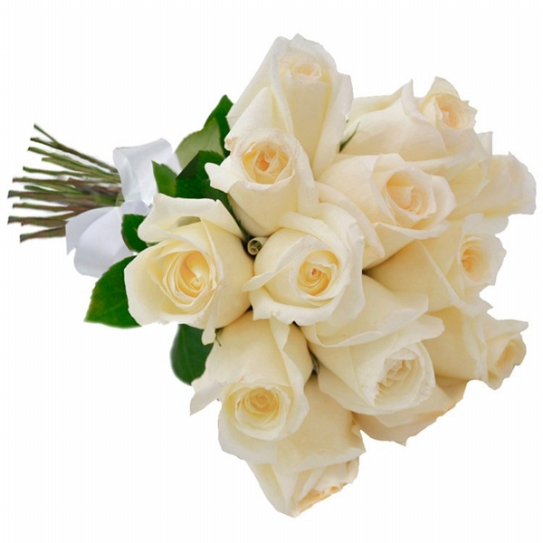 Buquê 18 Rosas Brancas