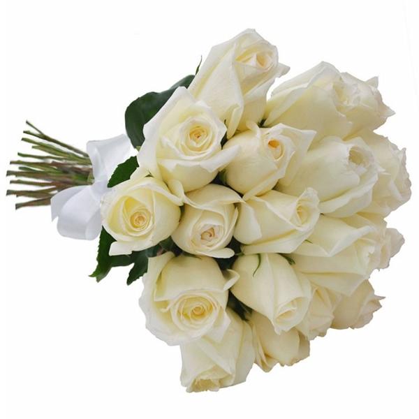 Buquê 24 Rosas Branca