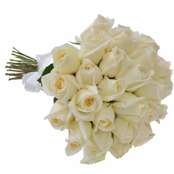 Buquê 30 Rosas Branca