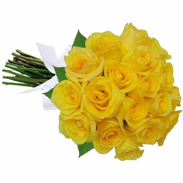 Buqu� 18 Rosas Amarelas