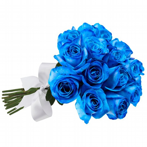 Buquê 18 Rosas Azul