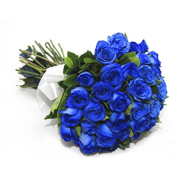 Buquê com 36 Rosas Azul