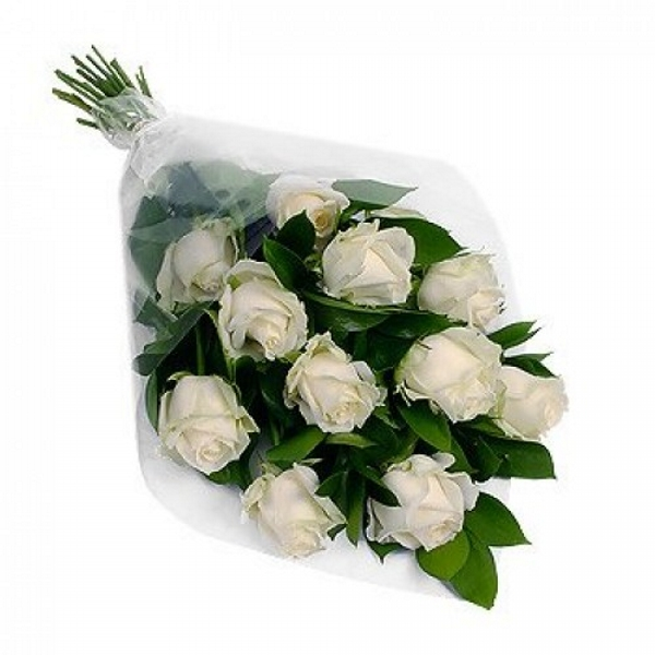 Buquê 12 Rosas Branca