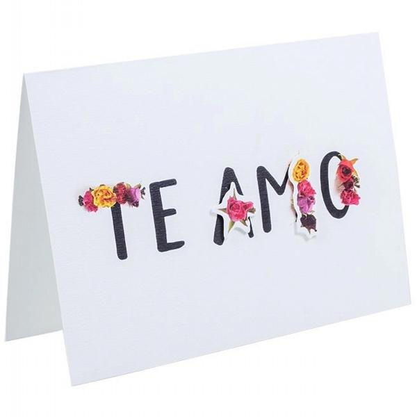 Cartão Te Amo Florido