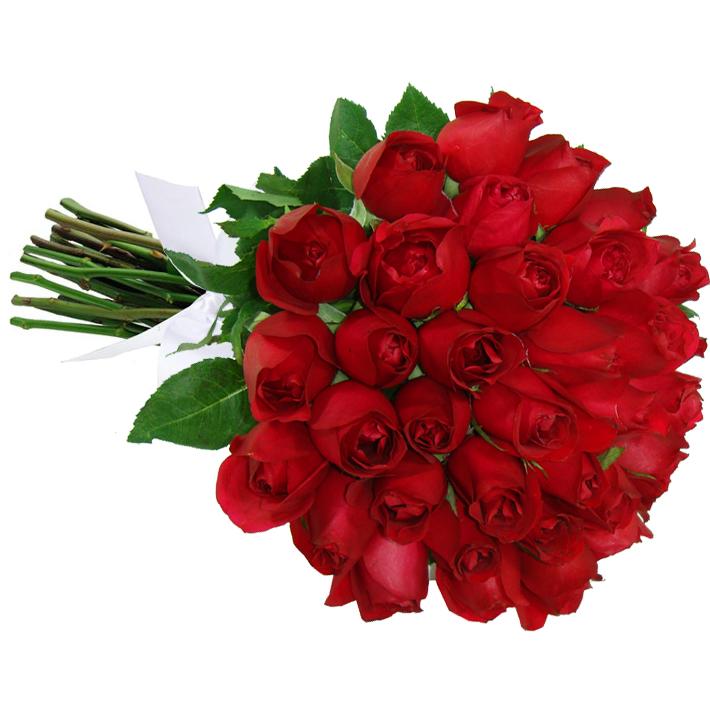 Buquê com 36 Rosas Vermelhas