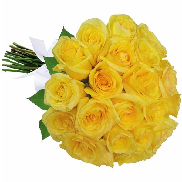 Buquê 24 Rosas Amarela