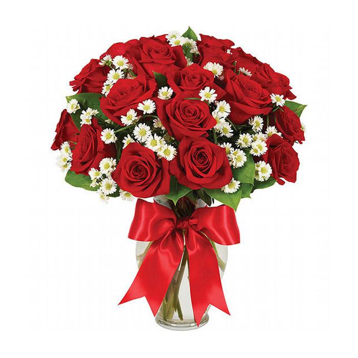 Rosas e Margaridas no Vaso