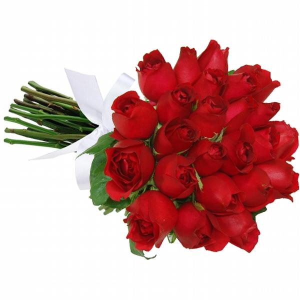 Belo Buquê 24 Rosas Vermelhas