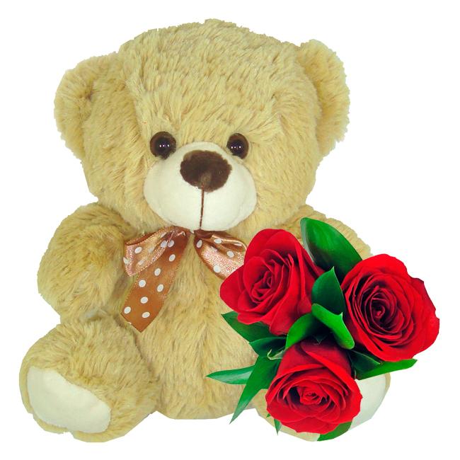 Urso Mimo e Flores