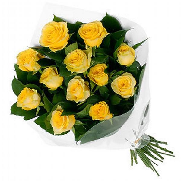 Buqu� de Rosas Amarelas Tradicional