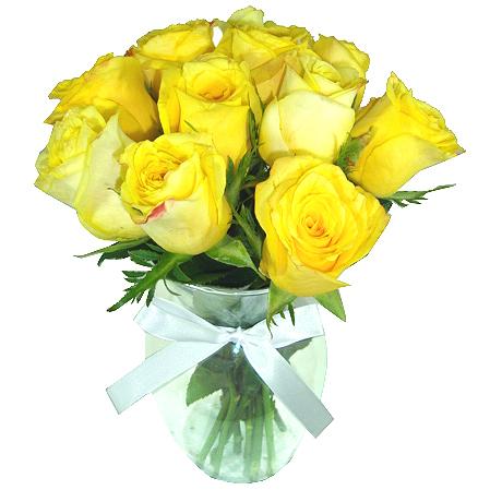 Rosas Amarelas no Vaso