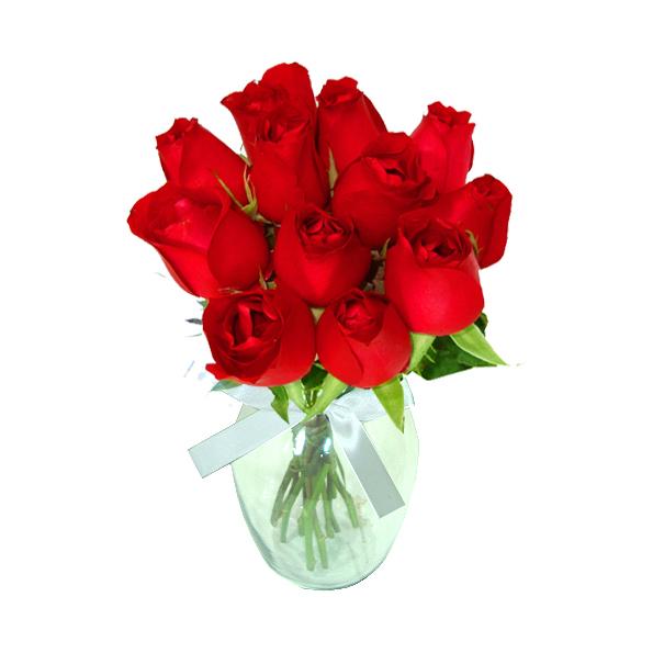 Rosas Vermelhas no Vaso