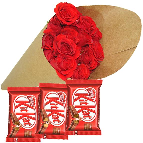 Botões de Rosas com Kit Kat