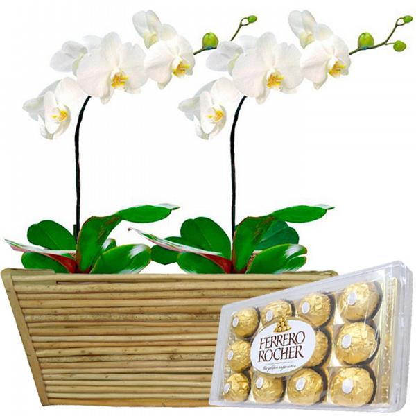 Duplinha Orqu�dea com Chocolates