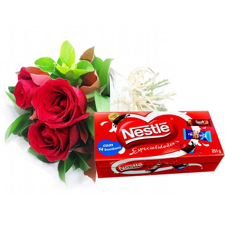 Chocolates com Rosas