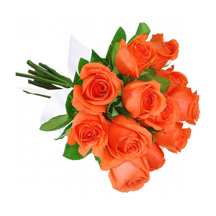 Buquê de 12 Rosas Laranja