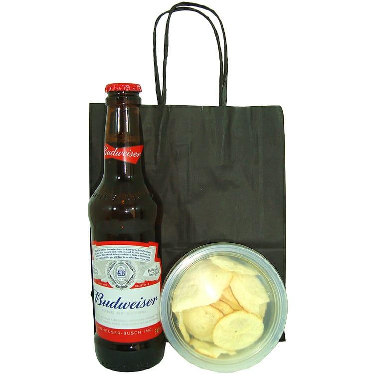 1Budweiser e Aperitivo Chips de Provolone